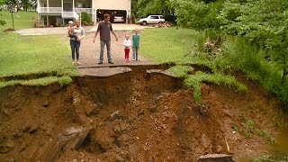 Family Stranded After Driveway Swept Away in Flooding Says It Will Cost $20K to Fix It