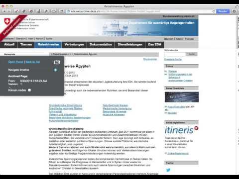 Archivierung von Webinhalten beim EDA durch qumram