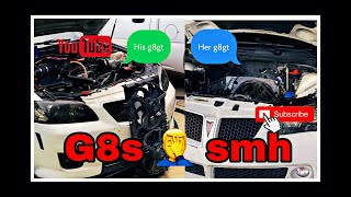 Wifes pontiac g8 gt gets cammed part 2/boosted G8 overheats vlog   (holden commodore ve)
