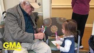 95-year-old former marine and 3-year-old meet in music class and are now BFFs l GMA Digital