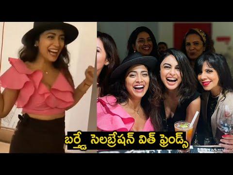 Actress Shriya Saran celebrates birthday with friends, adorable moments