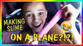 MAKING SLIME ON A PLANE😱 | We Are The Davises