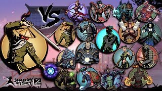 Shadow Fight 2 The Most Powerful Hermit Vs All Bosses