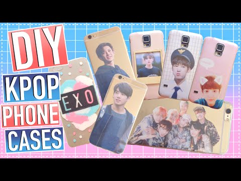 DIY KPOP Phone Cases (MUST TRY!) (BTS, EXO, etc.) | KPOPAMOO