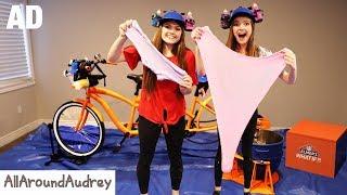 SLiME TiME! Making SLiME DIY With A Tandem Bicycle?   AllAroundAudrey