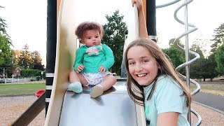 Reborn Babies Shiloh and Toddler Kennedy Go to the Park | The Patsy Family