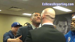 EPIC!!! Chris Arreola NEARLY COMES TO BLOWS WITH FORMER SPARRING PARTNER!!!