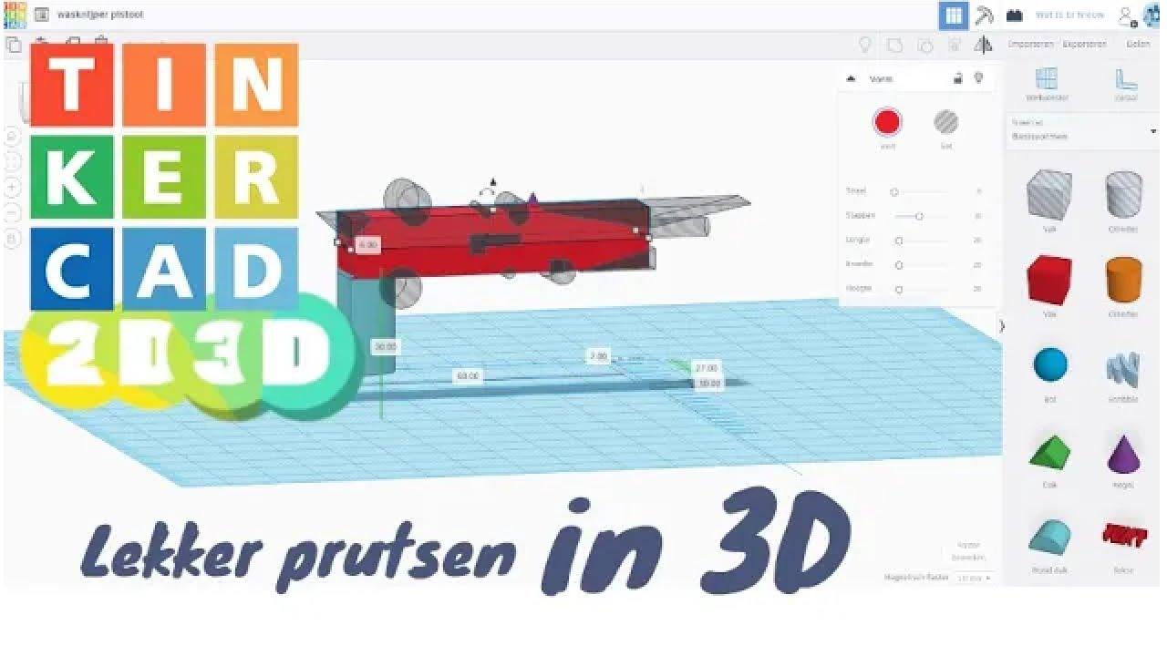 Prusten in 3D met TinkerCad