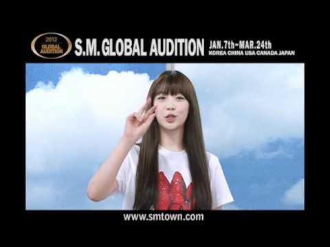 2012 S.M. GLOBAL AUDITION ARTIST Message (ver.KOR)
