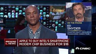 Apple compra la división de módems para 'smartphones' de Intel por ,000 millones
