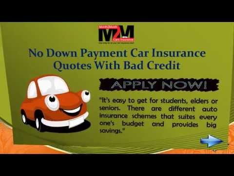 Car insurance with no down payment with online quotes