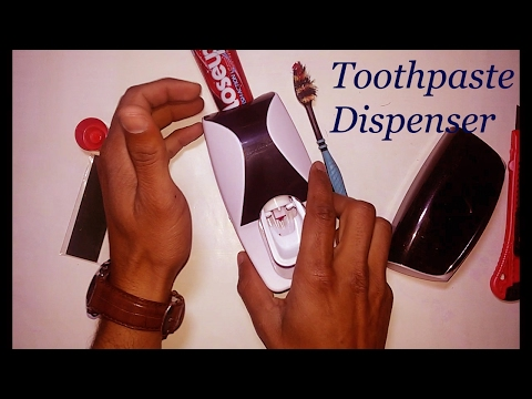 video Toothbrush Holder Automatic Dispenser