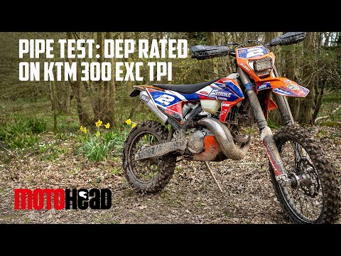 Power test: Track time for the KTM 300 EXC TPI and DEP exhausts!