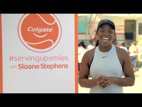 Sloane Stephens #ServingUpSmiles with Colgate Bright Smiles, Bright Futures®