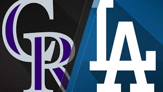 Dodgers take NL West lead with win over Rox: 9/17/18