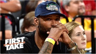 Lakers' DeMarcus Cousins suffers a possible knee injury | First Take