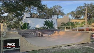 Neighbors displeased by backyard half-pipe