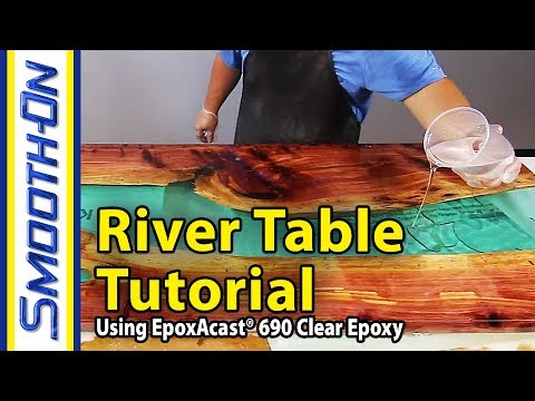 How to make a river table using clear epoxy casting resin for Diy river table