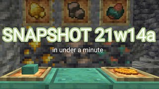 Taking a Look at Snapshot 21w14a's New Features!