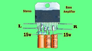 How To Make High Power Amplifier Using TDA2030 / DC 12v