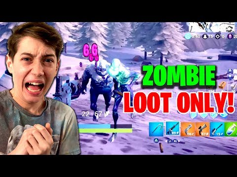 USING ONLY ICE ZOMBIE LOOT TO WIN! (Fortnite Zombie Loot Only Challenge)