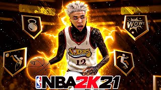 NEW BEST PLAYMAKING SHOT CREATOR BUILD IN NBA 2K21! FASTEST SIGNATURE STYLES + BEST JUMPSHOT!