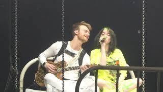 Billie and Finneas sing