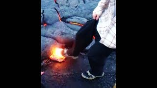 kid accidentally pops this huge lava bubble...
