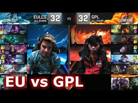 GPL vs EU LCS All-Stars Barcelona 2016. International All-Star Event 2016  lol. League of Legends AllStar VOD. 2016 All-Star Event full playlist: ...