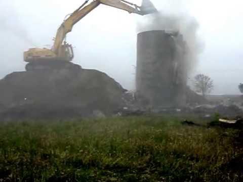 Emergency Demolition Of Burning Silo 2!