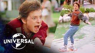 Back to the Future | Skateboard & Hoverboard Chase Scenes Back-to-Back!
