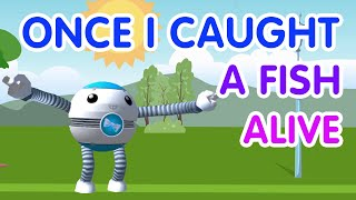 12345 Once I Caught A Fish Alive! | Nursery Rhymes | Number Song | Numbers for Kids | DEVAR