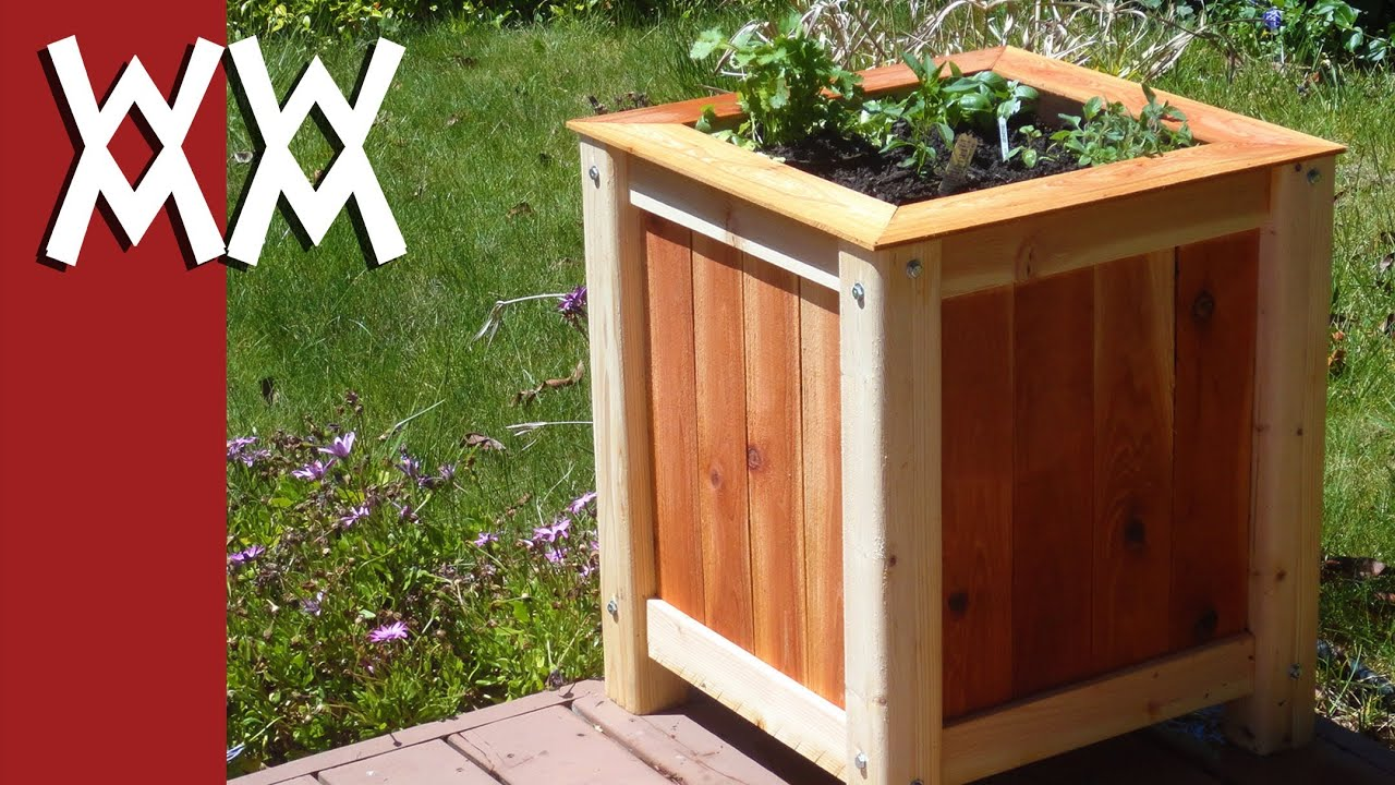 Build An Easy Inexpensive Wood Planter Box Youtube