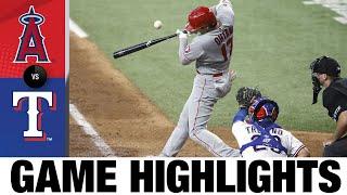 Angels vs. Rangers Game Highlights (8/5/21) | MLB Highlights