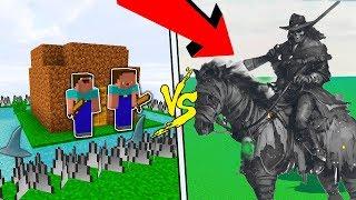 KỴ SĨ MA TẤN CÔNG NHÀ ĐƯỢC BẢO VỆ CỦA NOOB (Huy Noob Minecraft)