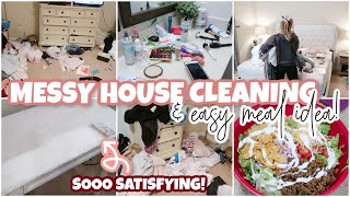 MESSY HOUSE CLEAN WITH ME 2020 & WHATS FOR DINNER?   EXTREME CLEANING MOTIVATION & EASY MEAL IDEAS!