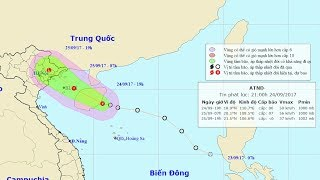 Tin Áp Thấp Mới Nhất Ngày 25/09 :  Tin áp thấp nhiệt đới tiến sát đất liền