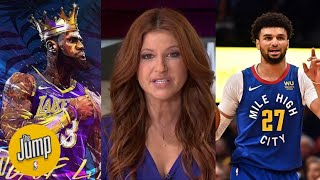 [FULL] The Jump| Rachel Nichols heated LeBron easy take 4th ring, Lakers will destroy Nuggets Game 2