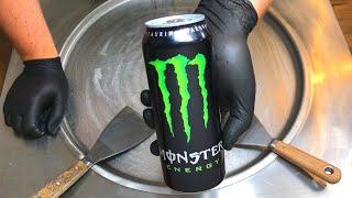 Monster Ice Cream Rolls | how to make Monster Energy Ice Cream - rolled ice cream recipe ASMR Food