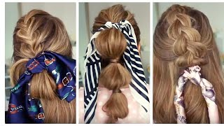 12 TRENDY BANDANA/SCARF HAIRSTYLES FOR SUMMER | How to Style scarf - Kara