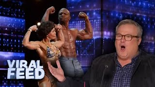 INCREDIBLE 73 YEAR OLD BODY BUILDER AUDITIONS WITH TERRY CREWS | VIRAL FEED