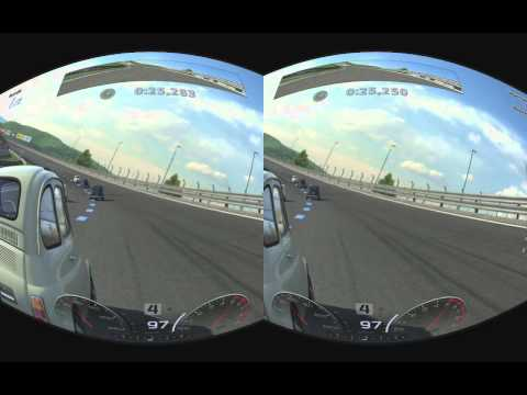 PS3 Gran Tourismo 5 stereoscopic 3D realtime rifted for Oculus Rift
