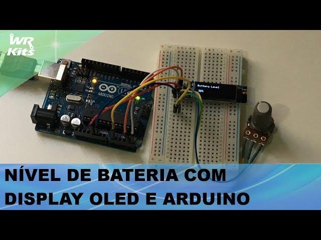 NÍVEL DE BATERIA SIMPLES COM DISPLAY OLED E ARDUINO