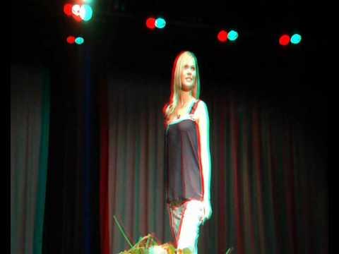 Défilé de mode à l'occasion de l'élection de Miss Sud-Bretagne 2010 au Guilvinec (3D anaglyph)