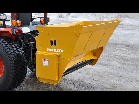Power spreader salt sand amp fertilizer spreader by quick attach