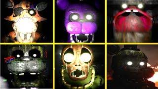 NEW FNAF 3 : Nights at Fazbear's Fright ALL JUMPSCARES
