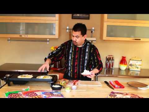 Azteca Food's Chef Gustavo Presents Pineapple Chicken Quesadillas
