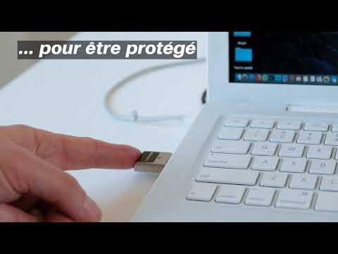 Clé USB 3.0 sécurisée à reconnaissance d'empreinte digitale 128 Go*