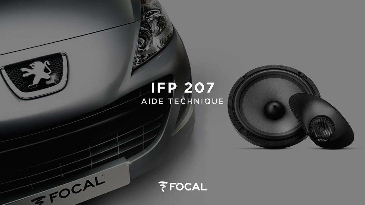 installer le kit focal int gration ifp 207 d di la peugeot 207 youtube. Black Bedroom Furniture Sets. Home Design Ideas