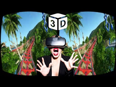 Roller Coaster VR 3D SkullHead Horror Jumpscare ║ Planet Coaster VR 3D SBS VIDEO 60fps